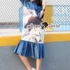 ชุดเดรสเกาหลี พร้อมส่งBirdly Print Nifty Dress