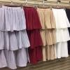 เสื้อผ้าแฟชั่นพร้อมส่ง กระโปรง 3ชั้นอัดพลีท ดีไซน์น่ารักมาก