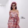ชุดเดรสเกาหลีพร้อมส่ง Mini dress ทรงค้างคาว ผ้าพริ้วสวยมากๆ