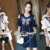 ชุดเดรสเกาหลี พร้อมส่งVarious Color Butterfly Furnish Dress