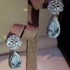พร้อมส่ง Piapet luxury earring ต่างหูเพชรCZ ห้อยฝังแท้
