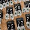 พร้อมส่ง Diamond Earring ต่างหูเพชร CZ แท้ประดับพลอย CZ