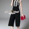 เสื้อผ้าเกาหลี พร้อมส่งNight Party Blacky Lace PlaySuit