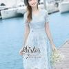 ชุดเดรสเกาหลี พร้อมส่งLovely Sweet Blue Lady Lace