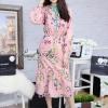 ชุดเดรสเกาหลีพร้อมส่ง DS brand flower print dress
