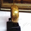 กำไลถมทอง ลายดอกพุตตาน 2 cm. แบบล็อค โดย เครื่องถมนคร by green