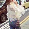 เสื้อผ้าเกาหลี พร้อมส่งHanako Luxury Lace Shirt