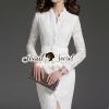 ชุดเดรสเกาหลี พร้อมส่งCurly Lace Sweet Casual Pearl Dress