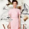 ( พร้อมส่งเสื้อผ้าเกาหลี) เดรสแบรนด์ Valentino เนื้อผ้าลูกไม้สีชมพูหวาน เนื้อผ้า70%polyester 30%silk ตัดแต่งระบายคอ/ปลายแขน/ชายกระโปรงด้วยลูกไม้แบบ eyelash กลมกลืนสวย ช่วงเอวตัดเย็บเหมือนใส่ชุดสองชิ้น เข้ารูปเน้นซิลลูเอทเว้าโค้งสวย มีซับในในตัวนะคะ