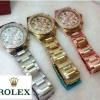 Rolex เพชรฟรุ้งฟริ้ง หน้าปัด 34 mm สวยมาก ๆ สายกิฟลอค ราคา 890 บาท