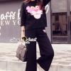 เสื้อผ้าเกาหลี พร้อมส่งPink Panther Chic Set