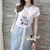 ชุดเดรสเกาหลี พร้อมส่ง Plaitly Chic Lambent Furnish Dress