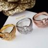 พร้อมส่ง Cartier Ring แหวนคาเทียร์ทรงเข็มขัดงานเพชร CZ แท้