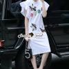 ชุดเดรสเกาหลี พร้อมส่งFashionista Ornamental Fringe Sleeve Dress