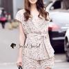 เสื้อผ้าเกาหลี พร้อมส่งงานเซ็ทลุคสาวหวานดูไฮ เสื้อทรงสวยด้วยเสื้อคอปก มีดีเทลสวยๆ