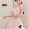 ชุดเดรสเกาหลีพร้อมส่ง Sweet Pinky Sensual Dress