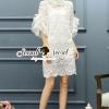 ชุดเดรสเกาหลี พร้อมส่งPrincess Lace Dress