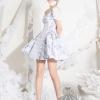 ชุดเดรสเกาหลีพร้อมส่ง Dress คอกลมแขตุ๊กตาแขนชีฟอง