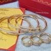 พร้อมส่ง เซตกำไล + แหวน Cartier ตัวเรือน stainless steel แท้