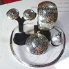 กำไลถมเงินลายไทย จี้พร้อมโชคเกอร์ แหวน และต่างหู งานออกแบบและสั่งทำพิเศษ โดย เครื่องถมนคร by green