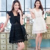 ชุดเดรสเกาหลี พร้อมส่งLuxury Lace Pricess Dress