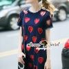 ชุดเดรสเกาหลี พร้อมส่งSweety Heart Perforate Dress