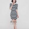 ชุดเดรสเกาหลี พร้อมส่งBlack & White Korea Adorable Dress