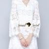 ชุดเดรสเกาหลี พร้อมส่งIvory Bohe Roppy Dress