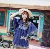 ( พร้อมส่ง) เสื้อตัวยาวทรงค้างคาวปักลายใบไม้เกาหลี หวานเบาๆด้วยดีเทลผูกโบว์ช่วง อก ลุควินเทลเก๋ๆ ทรงใส่ง่าย ชิลๆน่ารักมากค่าาา