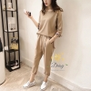 เสื้อผ้าเกาหลี พร้อมส่งชุดเซท เสื้อ+กางเกง เป็นผ้ายืดเนื้อดี ใช้ผ้าดีที่สุด