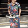 เสื้อผ้าเกาหลี พร้อมส่ง Lippzy Denim ShirtDress