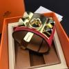 พร้อมส่งCDC Hermes Bracelet กำไลแอเมส งานซุปเปอร์ไฮเอนคะ ลายหนังวัวแท้ 100%