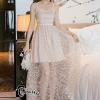 ชุดเดรสเกาหลีพร้อมส่ง Diara Luxury Cocktail High Dress