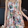 ชุดเดรสแฟชั่นพร้อมส่ง Mini dress ผ้าพิมพ์ลายสวย ทรงน่ารักมากๆ