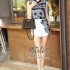 เสื้อผ้าเกาหลี พร้อมส่ง Blue Vintage Elegant Summer Lady Beauty Set