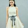 ชุดเดรสเกาหลีพร้อมส่ง Dress คล้องคอเปิดไหล่ เนื้อผ้าลูกไม้