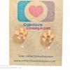 ต่างหูพลาสติก,ต่างหูก้านพลาสติก,ต่างหูเด็ก E29039 The Light Brown Flowers