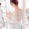 (พร้อมส่ง)Sweetie White Lace Flora Dress by Seoul Secret