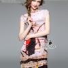 ชุดเดรสแฟชั่น พร้อมส่งdivana japanese girly printed short sleeve pretty dress