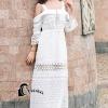 ชุดเดรสเกาหลี พร้อมส่งSummer Lifesyle Luxury White Lace Dress