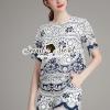 เสื้อผ้าเกาหลี พร้อมส่งVivaa Saphire Embroider Texture Style Chic Set