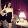 เสื้อผ้าเกาหลี พร้อมส่ง มินิเดรสลุคสาวเปรี้ยว ช่วงกระโปรงเป็นผ้า Cotton spenet