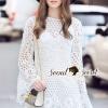 ชุดเดรสเกาหลี พร้อมส่งIvory Lorra Lace Dress