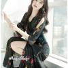 ชุดเดรสเกาหลี พร้อมส่งMaxi Dress คอวีมีแขน