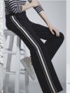 ความดีงามของเสื้อผ้าแฟชั่นเกาหลีกางเกงลุคส์Side-Stripe