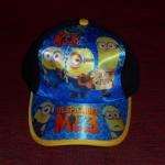 IM0198.หมวกลายมินเนี่ยน ด้านหลังปรับได้ สกรีนสวยค่ะ รอบหัวประมาณ 50-54 ซม. (ประมาณ 2-8ขวบ)