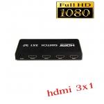 HDMI switch SELECTED full hd 3D เข้า3ออก1 เพิ่มhdmiให้ tv-black