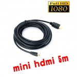 mini hdmi to hdmi cable 5m full hd 5m มีเสียงด้วย