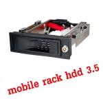 "mobile rack hdd 3.5"" เอาHdd pcใส่ในช่องCD-ROM -black"
