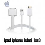 สายแปลง HDMI ipad iphone IOS8 ยาว1.8m ชาร์จไฟได้ด้วย